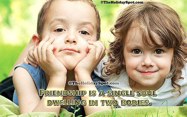 friendship card saying two body with a single soul