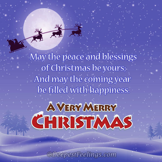merry christmas greeting card - Christmas Blessings For Cards