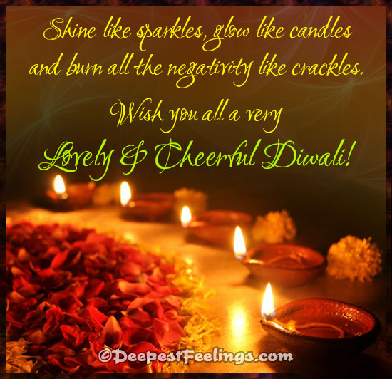 Have a Lovely & Cheerful Diwali!