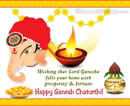 Wishing that Lord Ganesha fills your home with prosperity & fortune