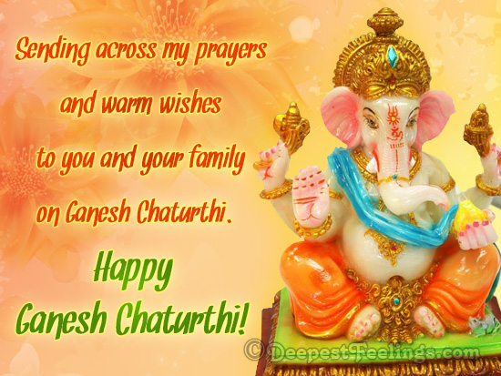 Ganesh Chaturthi card for worm wishes