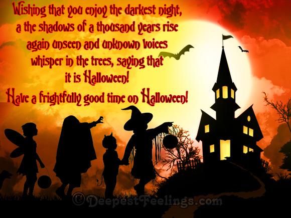 Wishing you that you enjoy the darkest night