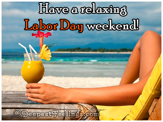 Relaxing Labor Day weekend wishes card