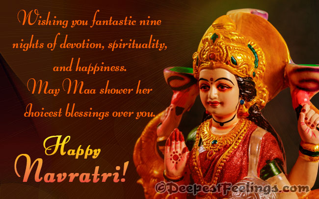 May Maa shower her choicest blessings over you