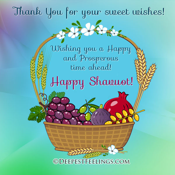 Thank You for your sweet wishes!