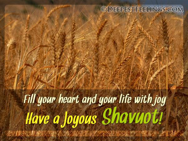 Have a Joyous Shavuot!