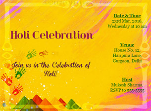 DeepestFeelings: Holi Invitation Cards