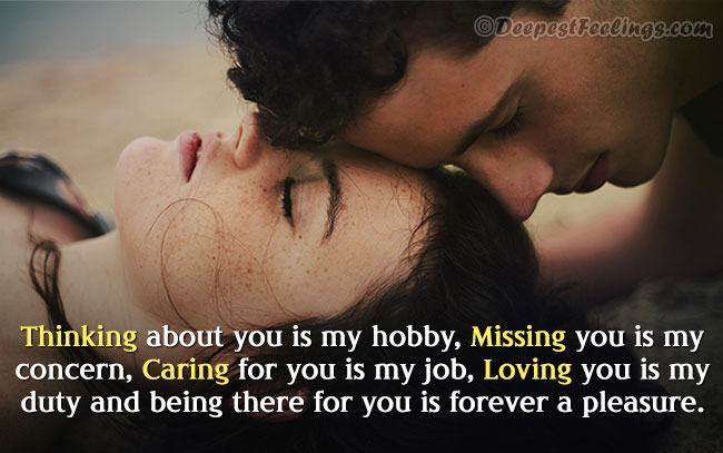 Thinking, missing, caring and loving image with beautiful quotation