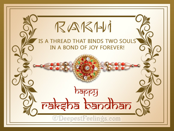 Rakhi - a thread that binds two souls in a bond of joy forever!